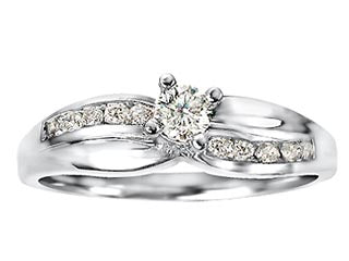 Swooping Shank Canadian Diamond Ring