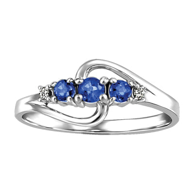 Sapphire Past Present and Future Ring