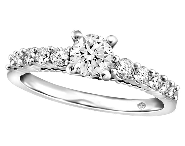 Embellished Solitaire Diamond Ring