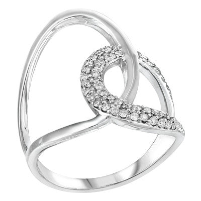 Double Interlocking Loop Diamond Ring