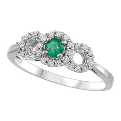 Emerald Tripple Halo Ring