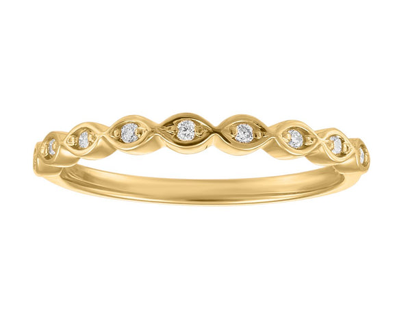 Scalloped Stackable Band