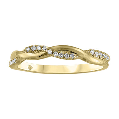 Braided Half Diamond Stackable Band