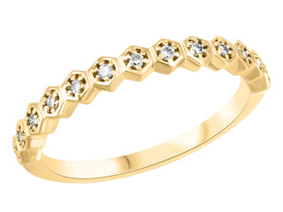 Honeycomb Diamond Stackable Band