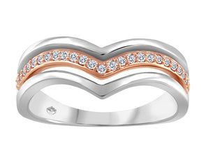 Channel Set Two Tone Diamond Ring
