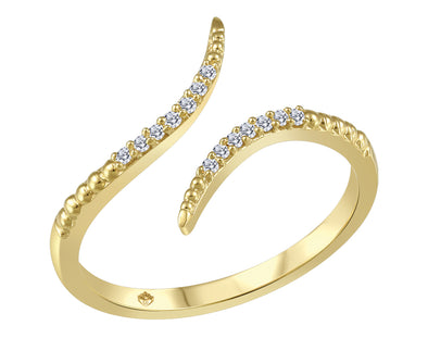 Bypass Diamond Split Ring
