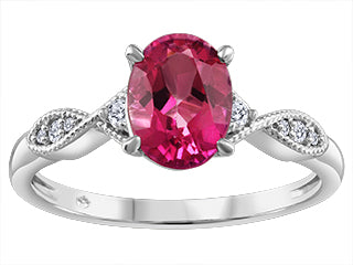 Pink Topaz Oval Ring