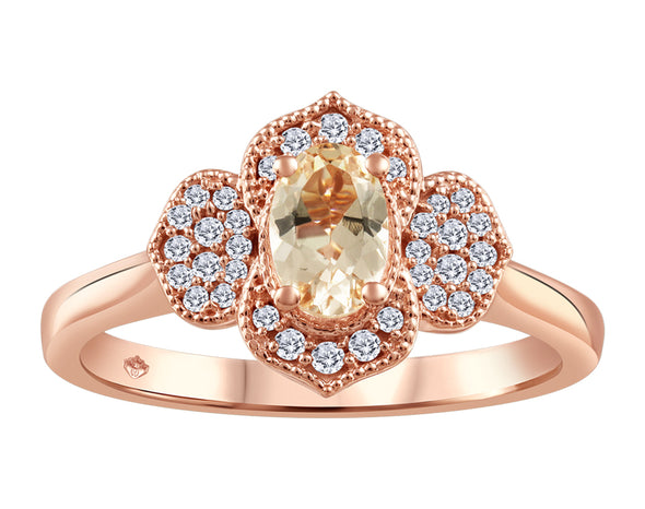 Morganite Floral Vintage Ring