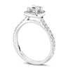 Princess Cut Diamond Halo Engagement Ring