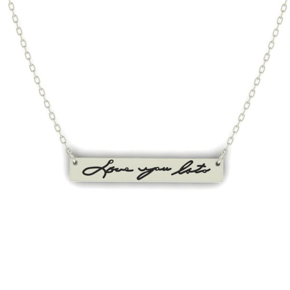 Handwritten Bar Necklace