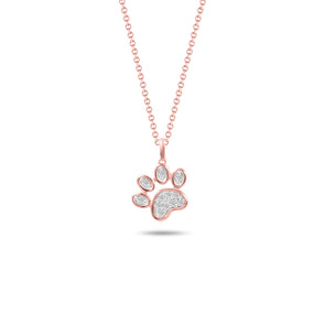 Diamond and Rose Tone Puppy Paw
