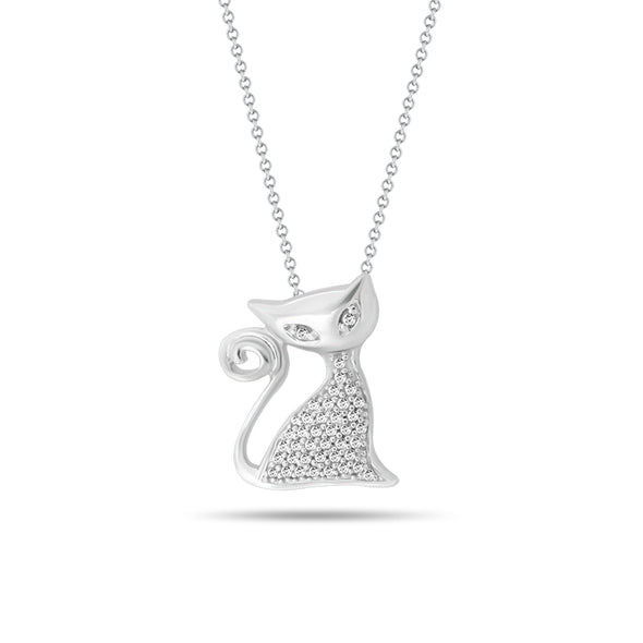 Cat Diamond Pendant