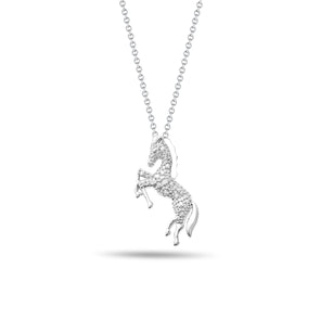 Horse & Diamond Pendant