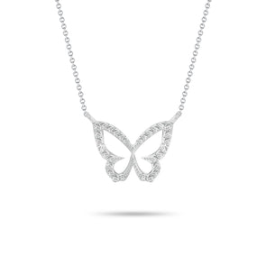Butterfly & Diamond Pendant