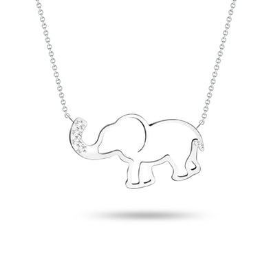 Elephant & Diamond Pendant
