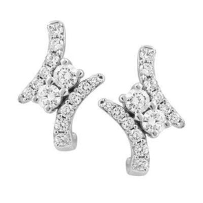 Perfect Together White Gold Canadian Diamond Earrings