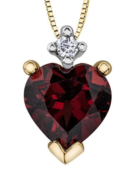 Garnet Jewel of my Heart Pendant