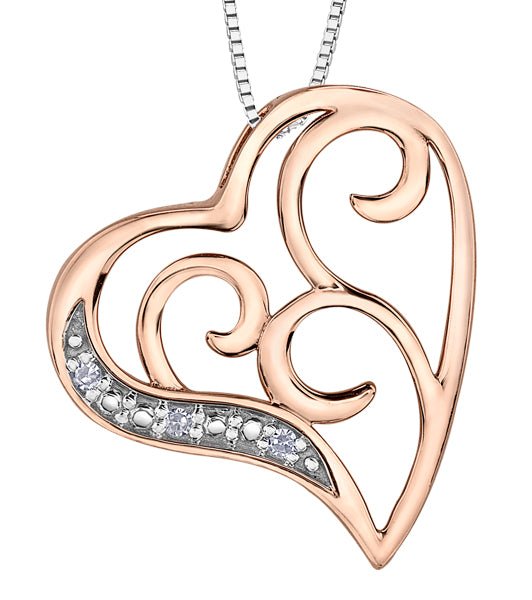Scrolled Heart Pendant