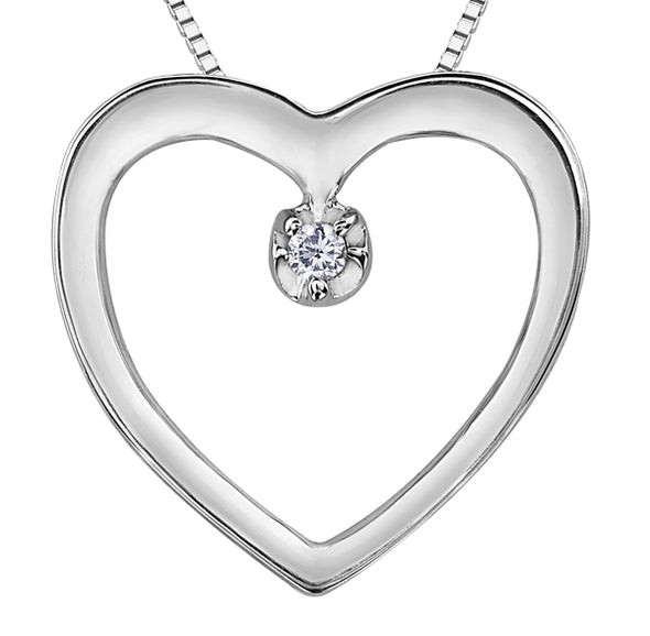 Minimalist Diamond Heart Pendant