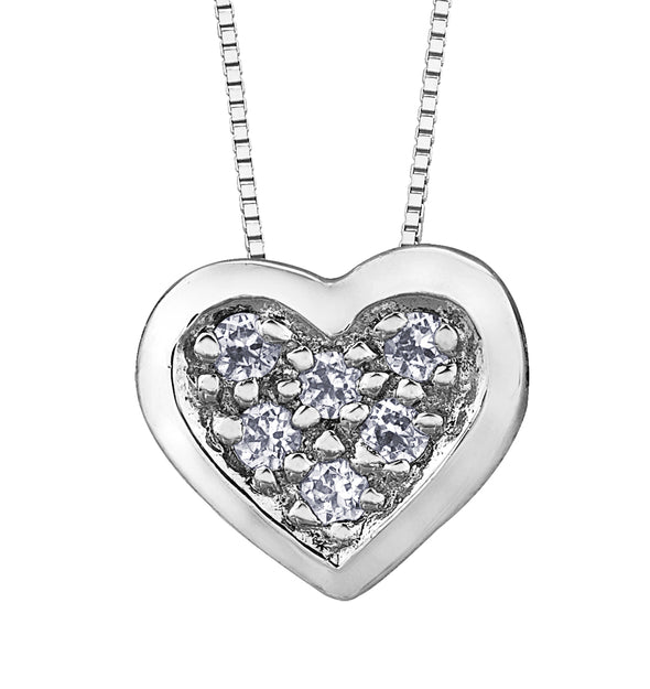 Pave Diamond Heart Pendant