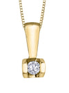 Tension Set Diamond Pendant
