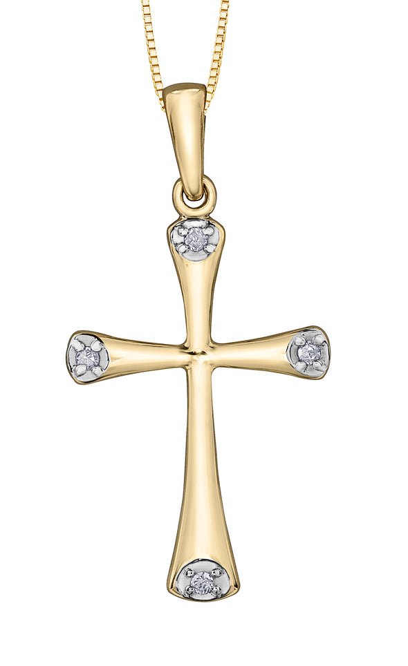Flared Edge Cross Pendant