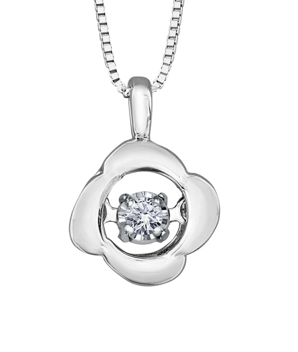 Floral Dancing Diamond Pendant