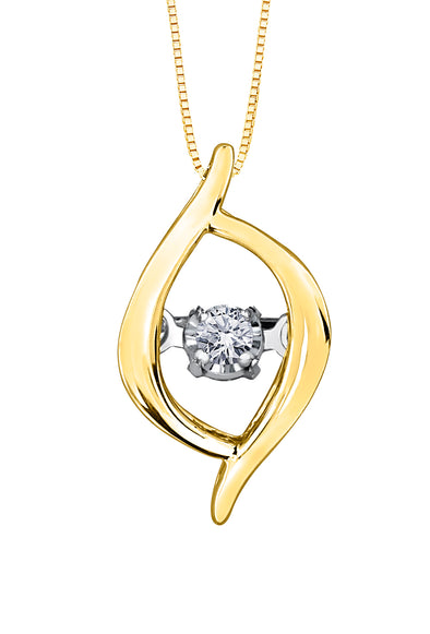 Dancing Diamond Crossover Pendant