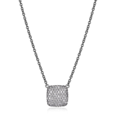 Cushion Shaped Pave Necklace