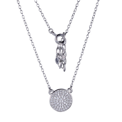 CZ Micropave Dot Necklace