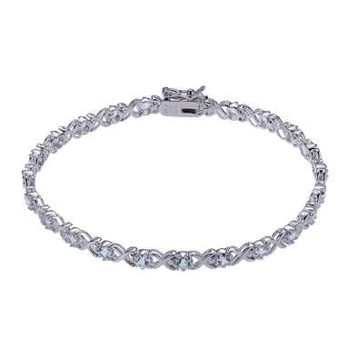 Rhodium Plated CZ Tennis Bracelet
