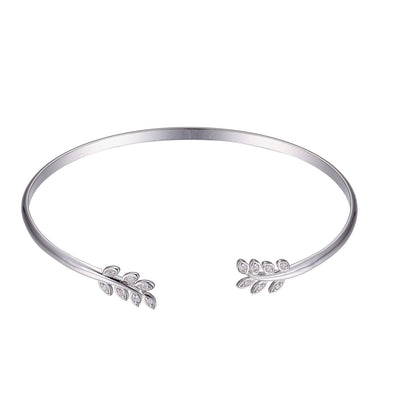 Floral Cubic Zirconia Set Bangle