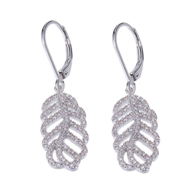 Leaf CZ Dangle Earring