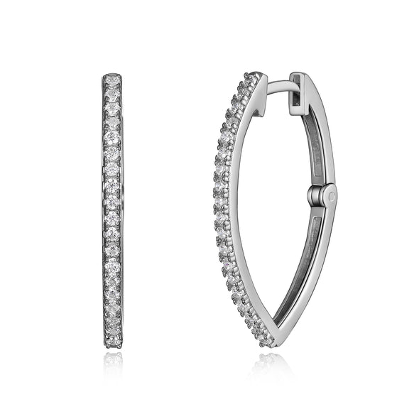 Oblong Pointed Hoop