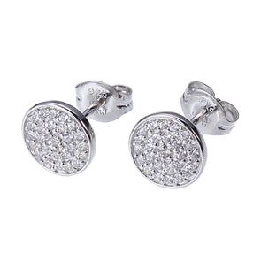 CZ Micropave Dot Earring in Silver