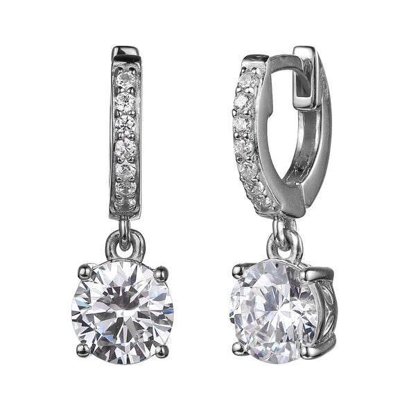 Dangle CZ Huggie Earrings