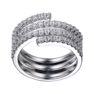 Coil CZ Set Ring