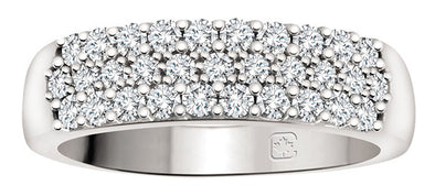 Pave Diamond and White Gold Ring