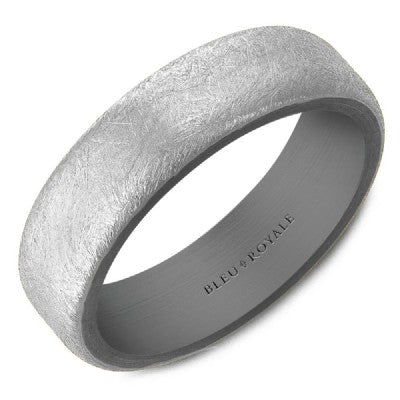 Diamond Brushed Gold and Tantalum Band