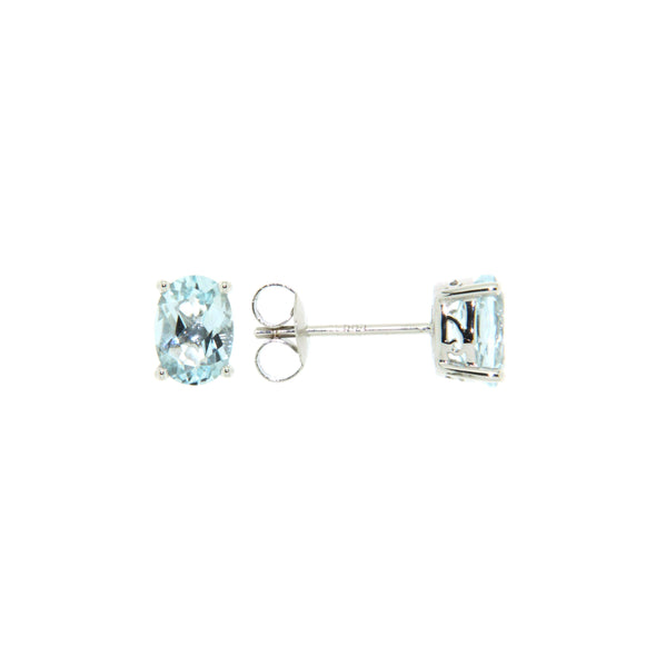 Aquamarine Oval Earrings