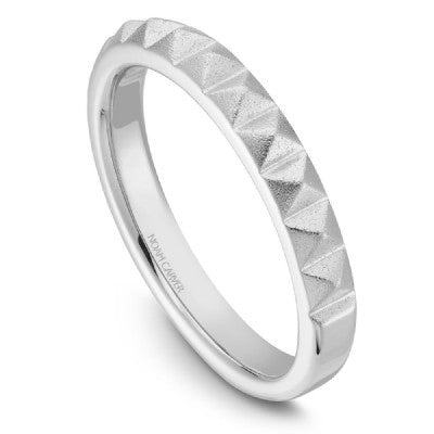 Studded White Gold Band