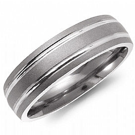 Torque Thin Titanium Men's Wedding Band