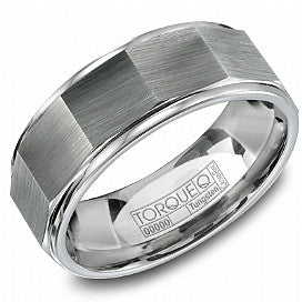Torque Tungsten Carbide Men's Wedding Band