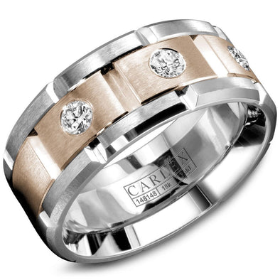 Gents Luxury Gold and Diamond Band