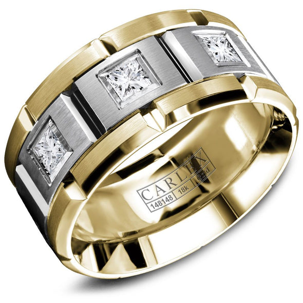 Square Diamond Gold Band