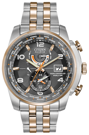 Silver Eco-Drive Radio Controlled Watch