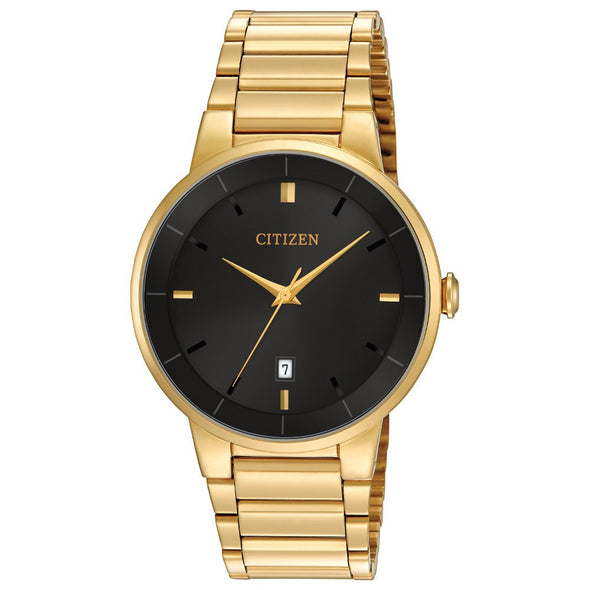 Sleek Gold Quartz Watch