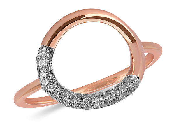 Circle of Love Pave Diamond Ring