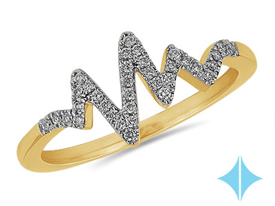 Heartbeat Diamond Ring