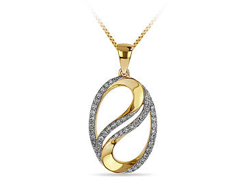 Oval Twist Diamond Pendant